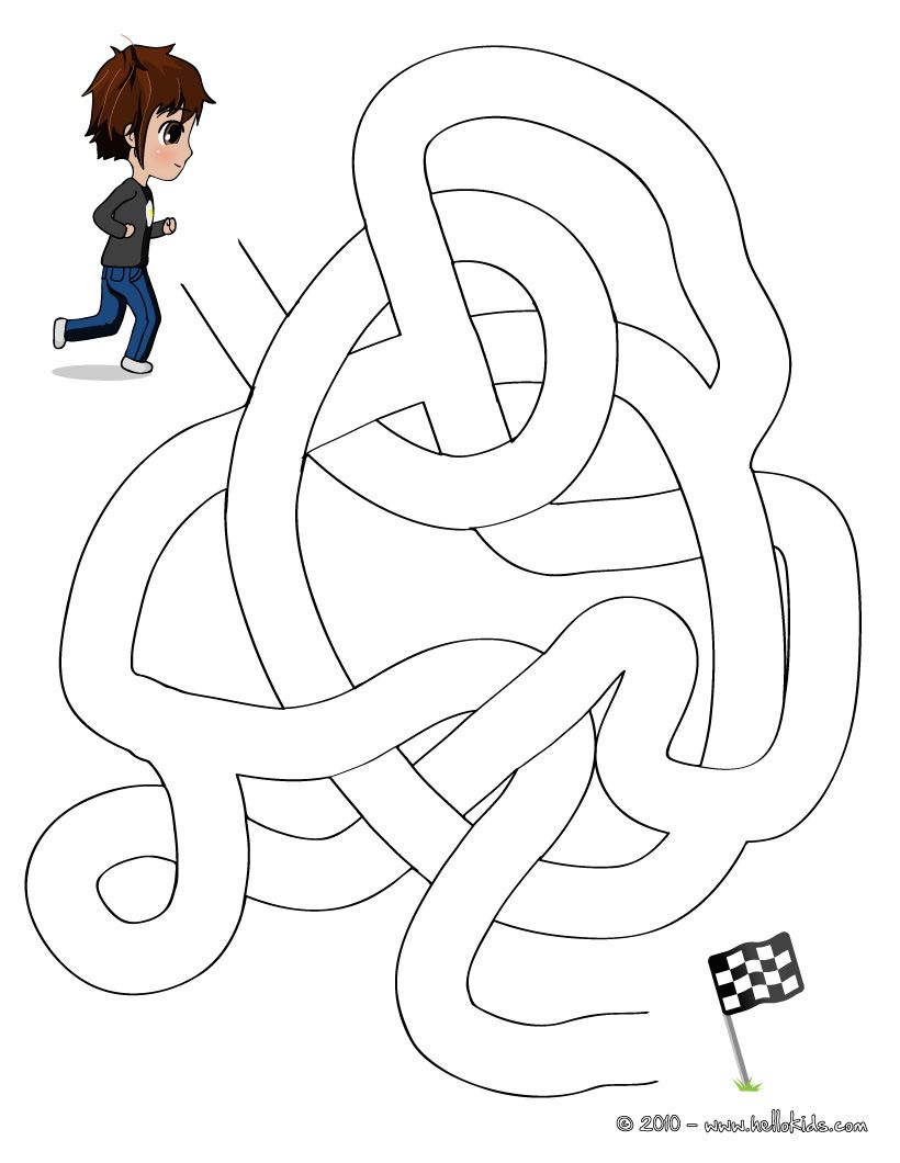 Colouring for kids games - Game Race Easy Printable