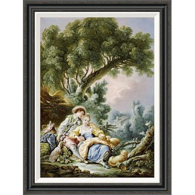 "Global Gallery 'The Rest. Pensent-Ils a Ce Mouton?' by Francois Boucher Framed Painting Print Size: 36"" H x 27.43"" W x 1.5"" D"