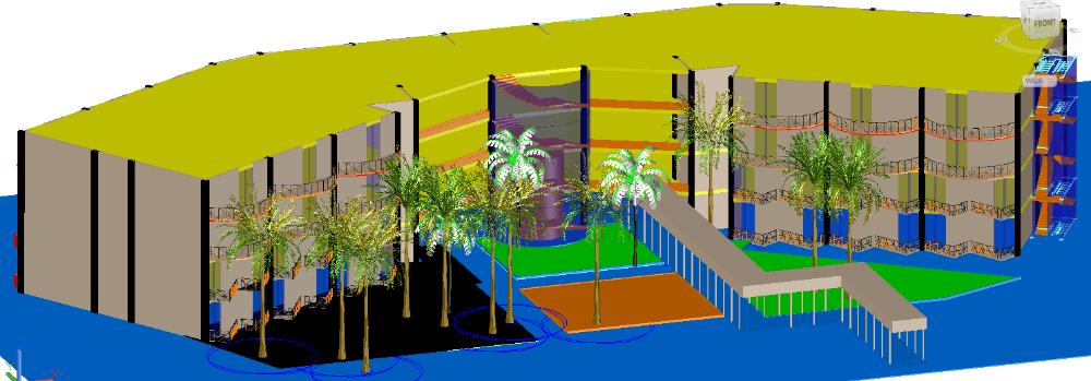 3D Restaurant plan design