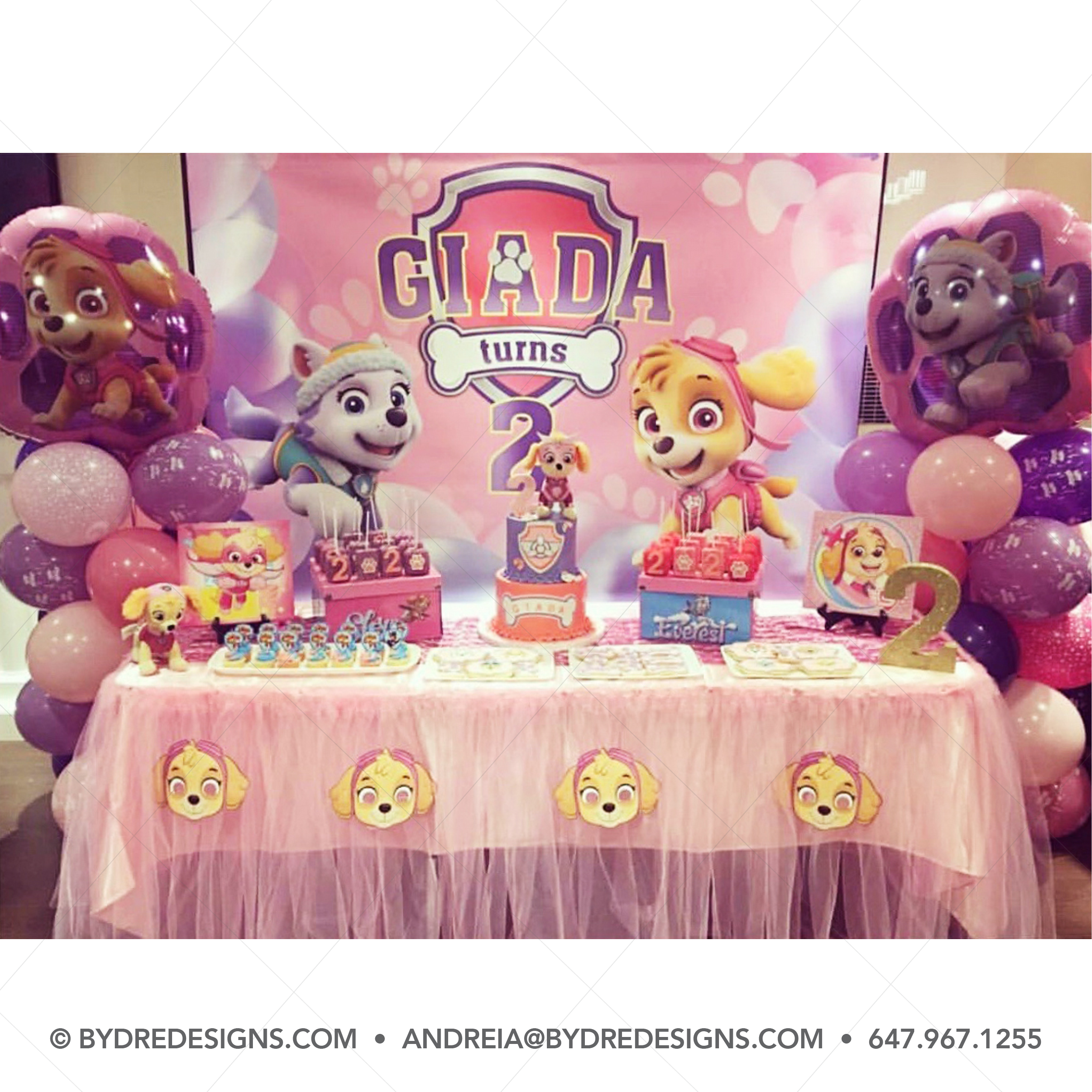 Paw Patrol Pink Skye and Everest Printable Backdrop for birthday party,Skye and Everest Personalized printable banner for birthday party