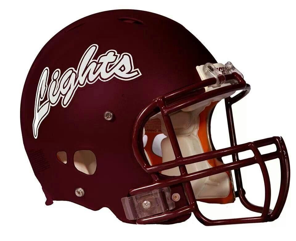 New lights football helmet montana state university