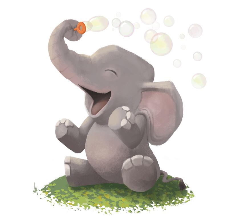 Николай второй, слоник смешной рисунок