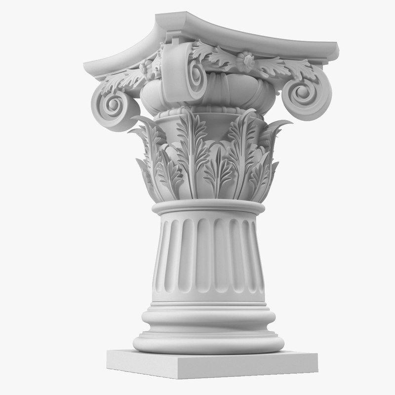 Max posite Order Column Pedestal 3D Model