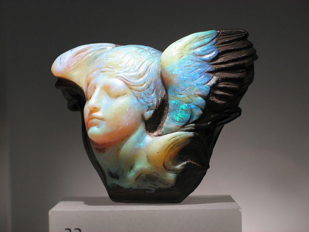 Rom gems quot dream cloud carved boulder opal
