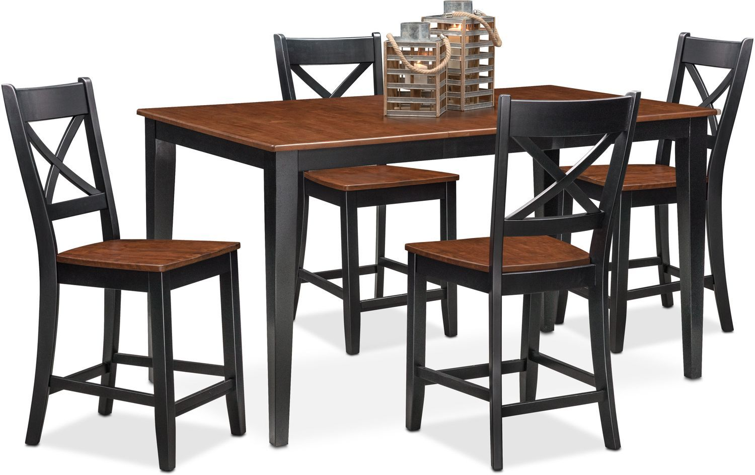 Nantucket Counter Height Dining Table And 4 Dining Chairs Tall