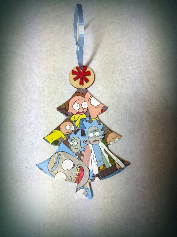 check out this item in my etsy shop httpswwwetsycomlisting258182688 rick and morty christmas ornament rick