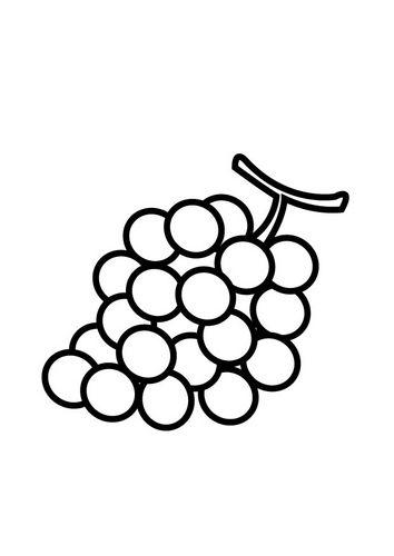 Kleurplaten Van Fruit.Kleurplaat Druiven Thema Fruit Kleurplaten Fruit En Eten En Drinken