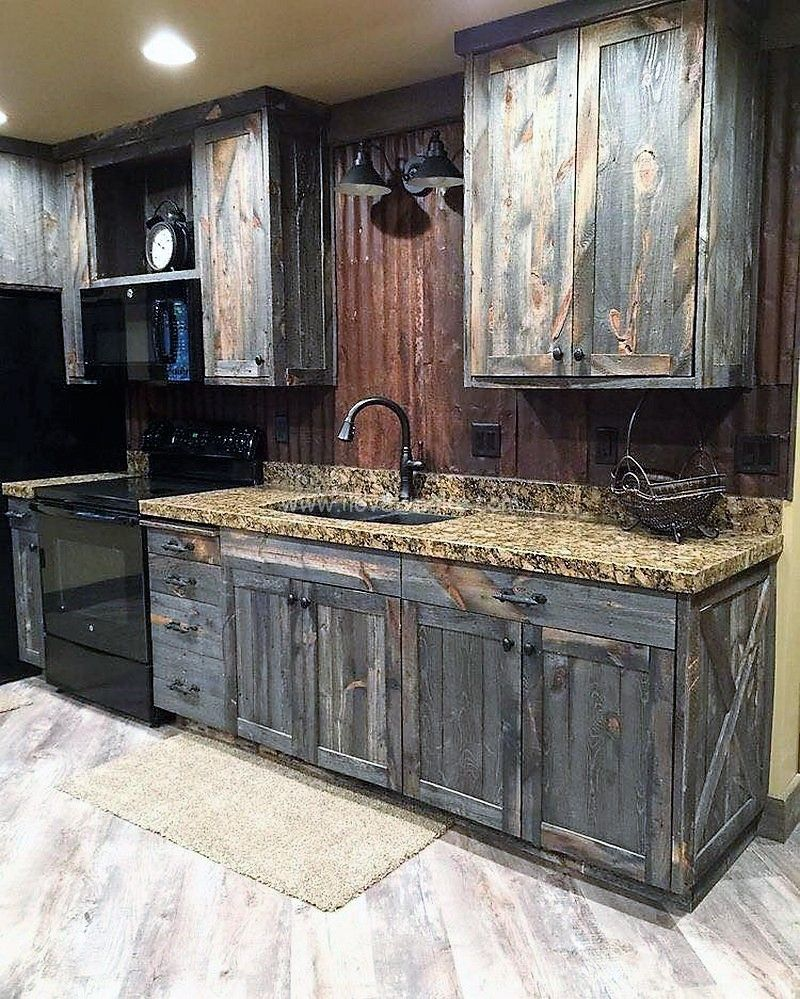 Pallet Kitchen Cabinet Ideas Rustic Kitchen Rustic Kitchen Cabinets Rustic House