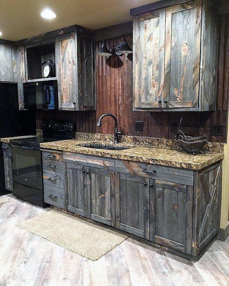 Pallet Kitchen Cabinet Ideas Rustic Kitchen Pallet Kitchen