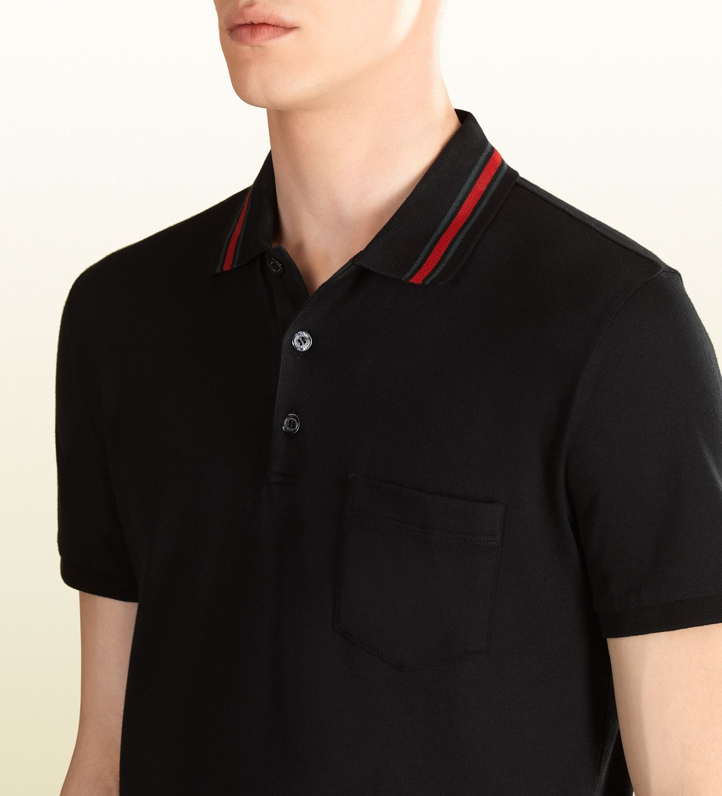 a65d90fa94e cotton jersey polo shirt Gucci