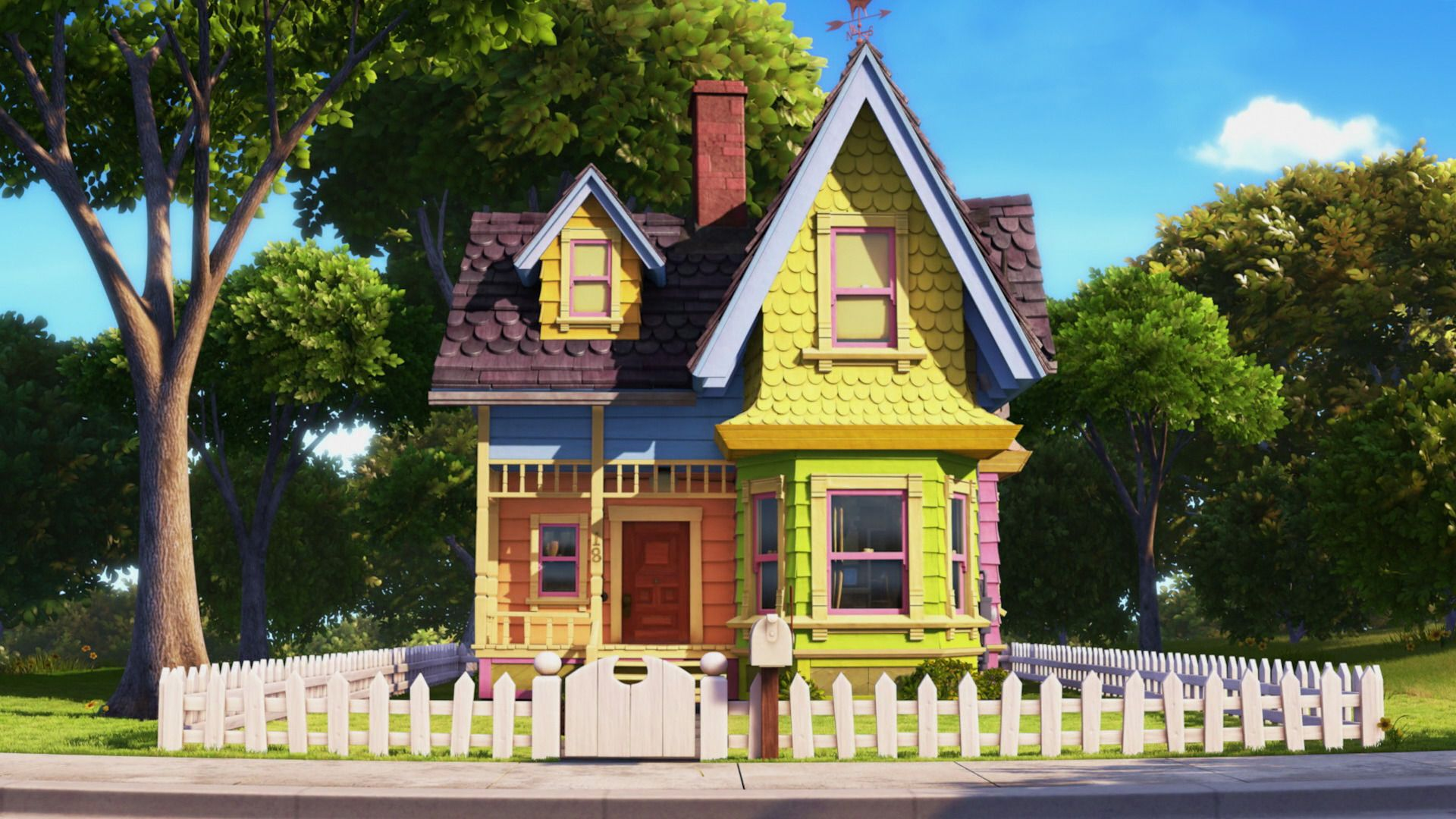 Up House After Up Movie House House Up House Pixar