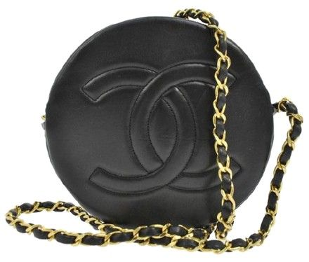 65e26b8cc673 Chanel Vintage Round Cc Quilted Lambskin Black Cross Body Bag | Cross Body  Bags on Sale