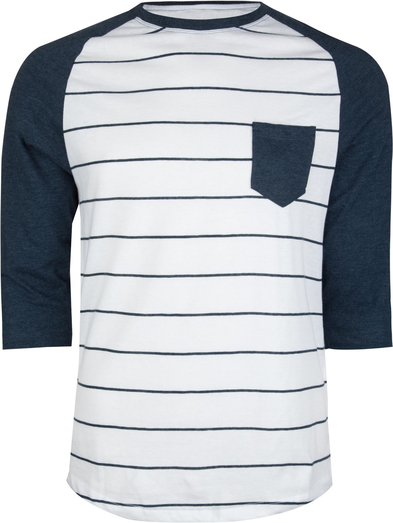 Pro tag 100 cotton 3 4 sleeve raglan baseball shirt in white black - Retrofit Stripe Raglan Mens Baseball Tee 201601210 L S Baseball Tees Tillys