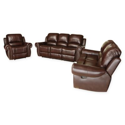 Super Abbyson Living Riley 3 Piece Leather Reclining Sofa Ibusinesslaw Wood Chair Design Ideas Ibusinesslaworg