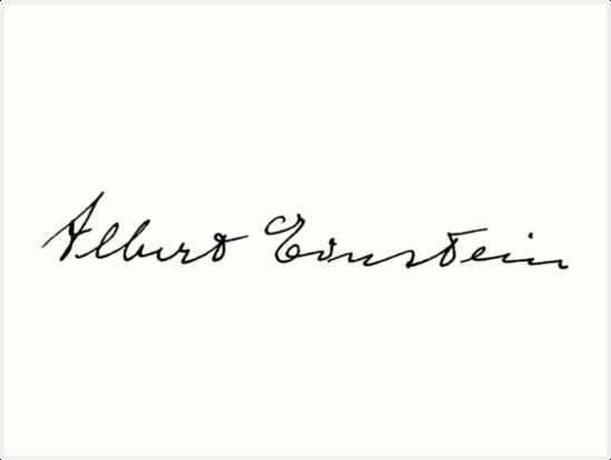Albert Einstein Signature Albert Einstein Einstein Albert