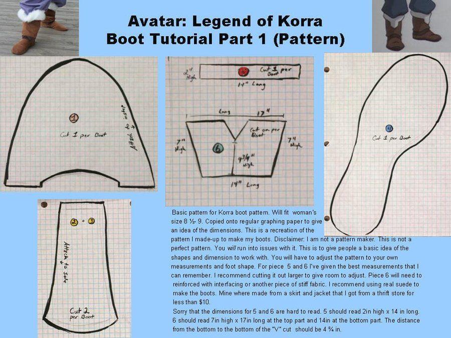 Avatar: Legend of Korra Boot Tutorial pt. 1 by LookyLolo.deviantart.com on @deviantART
