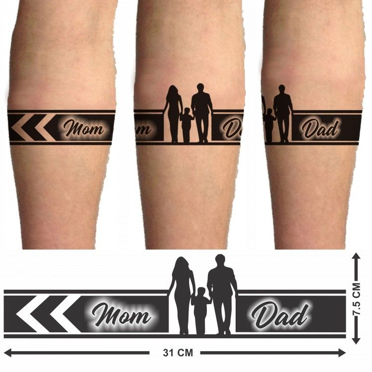 Voorkoms Mom Dad Hand Tribal Hand Band 02 Temporary Tattoo Two Design In Combo In 2020 Mom Dad Tattoo Designs Mom Tattoo Designs Band Tattoo Designs