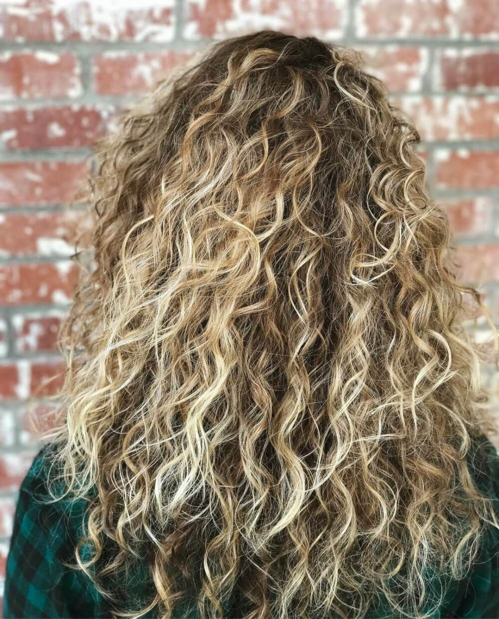 Brown dark curly hair with blonde highlights recommendations dress in summer in 2019