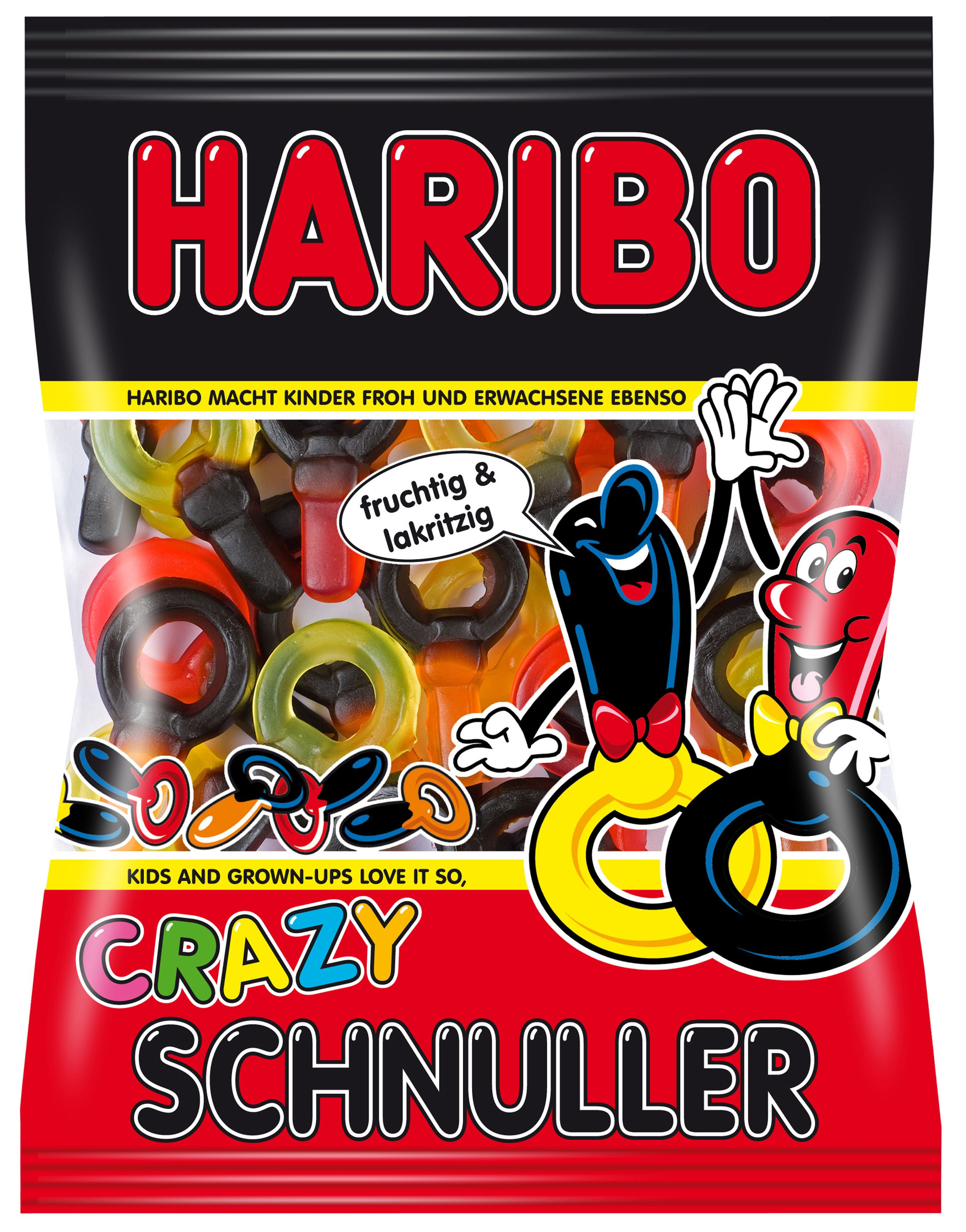 Das Zweifarbige Geschmackserlebnis Im Schnuller Sortiment Haribo Crazy Schnuller Sind Eine Gelungene Kombination Aus Leckerem Fr Fruit Gums Haribo Gummy Candy