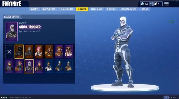 Selling this skull trooper account for $20 Xbox card NO