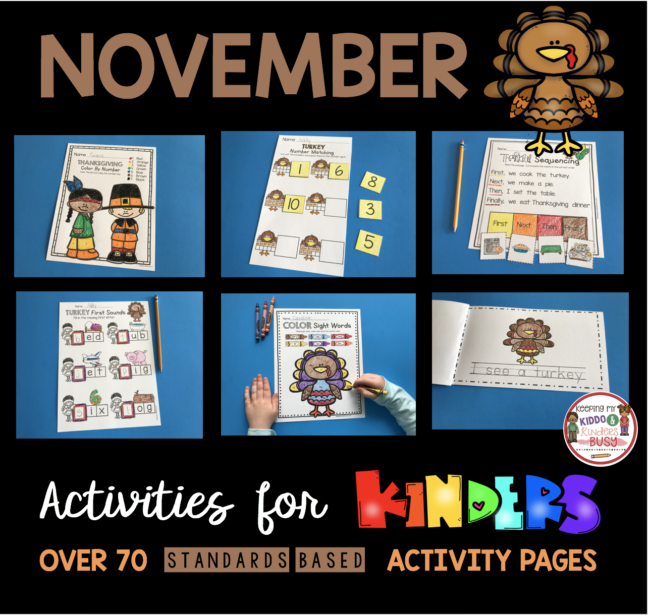 November Math And Literacy Pack