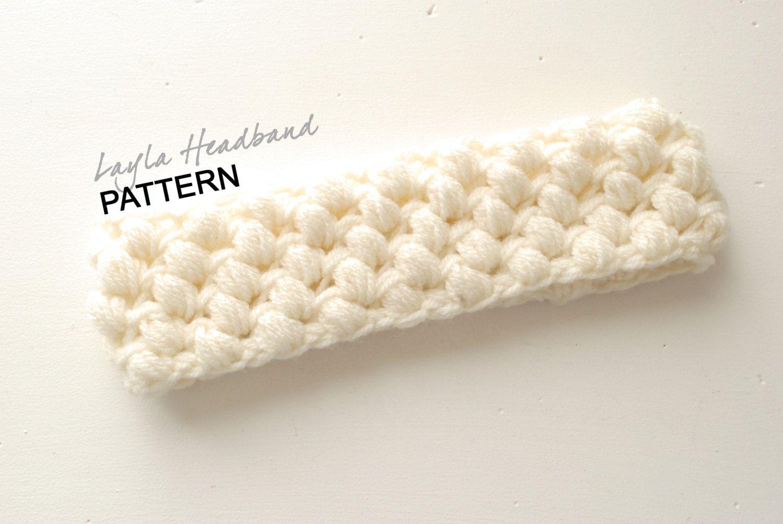 CROCHET PATTERN: Chunky Bubble Headband, Puff Stitch Headband ...