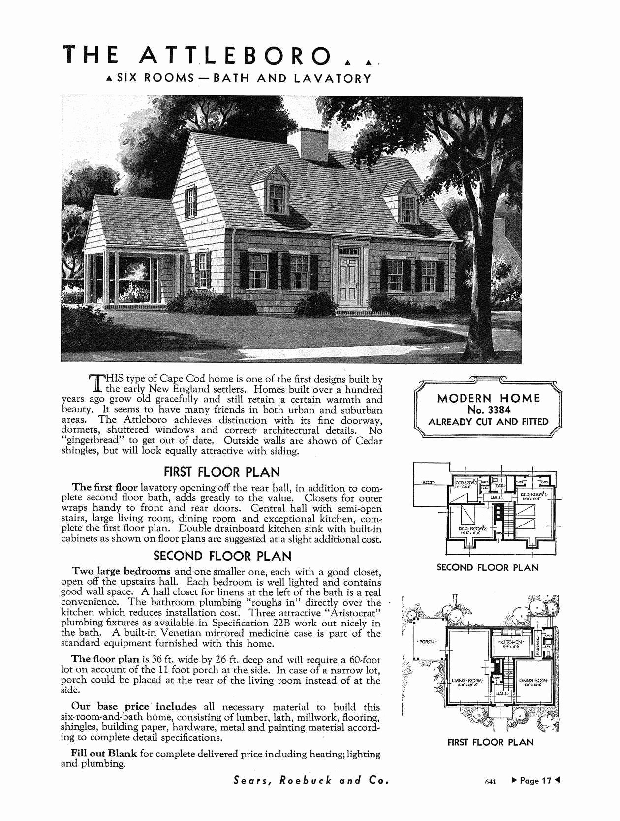 Sears House Plans Best Of 1940s Cape Cod Floor Plans Ideas | House ...