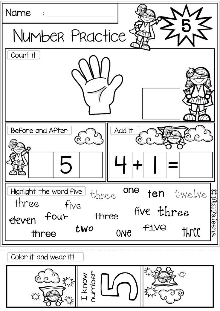 Free Number 1-20 Practice is great for pre-k, kindergarten and first ...
