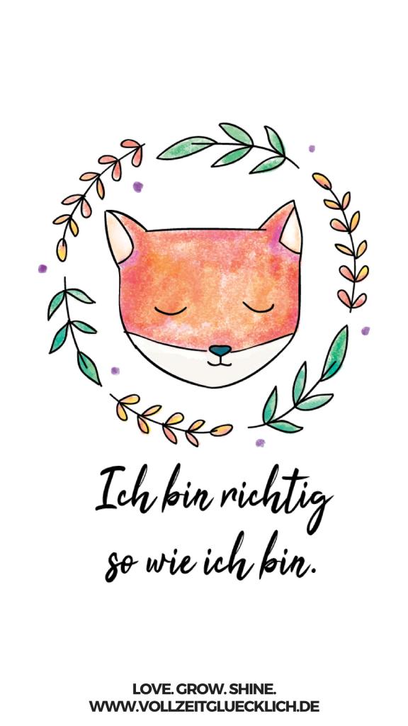 Smartphone Wallpaper - VOLLZEIT GLÜCKLICH COACHING | Herzlich Willkommen #happyfallyallwallpaper
