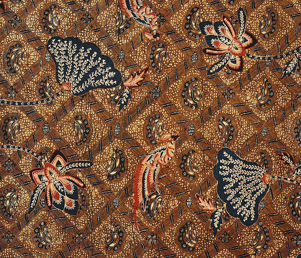 Indonesian batik sarong, Java, 1930's - detail