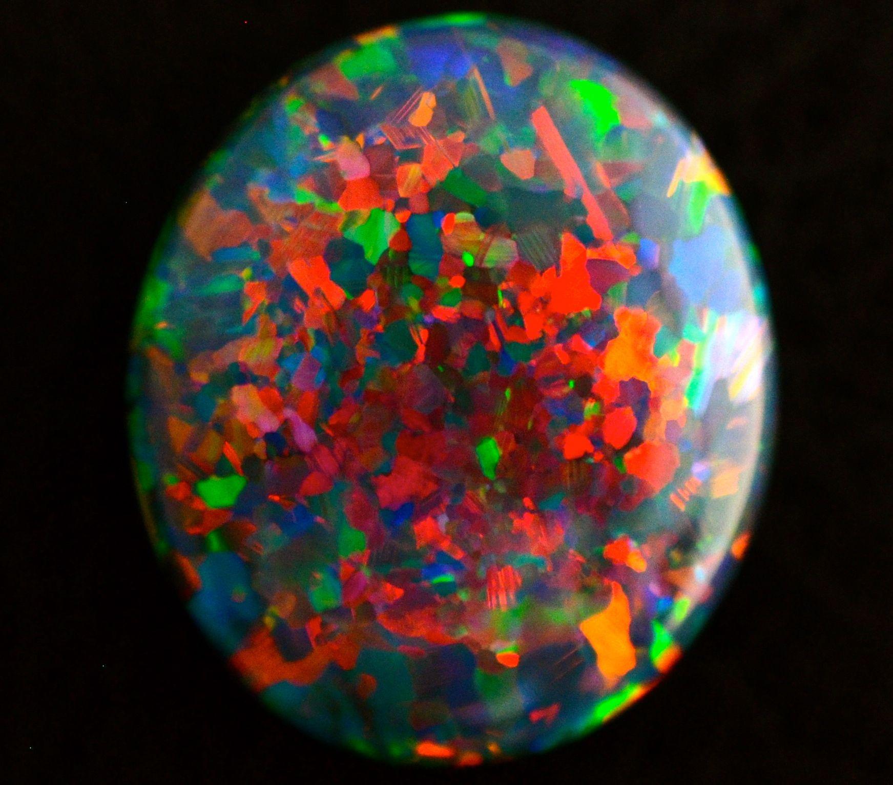 14.77 ct. one of a kind Lightning Ridge black Opal.