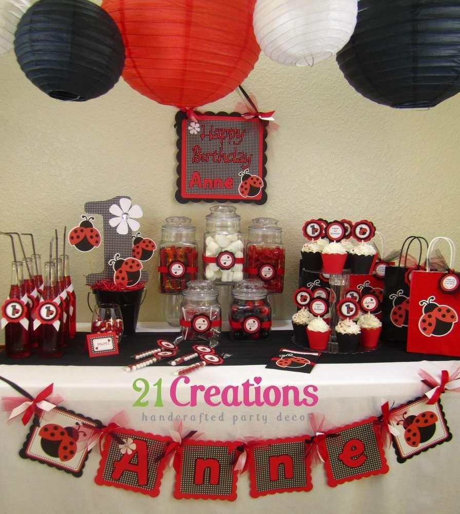 Ladybug 1st Birthday Birthday Party Ideas