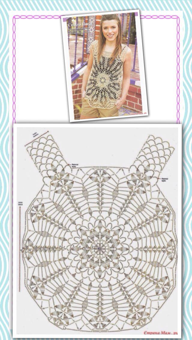 Crochet Summer Top Diagram Block And Schematic Diagrams