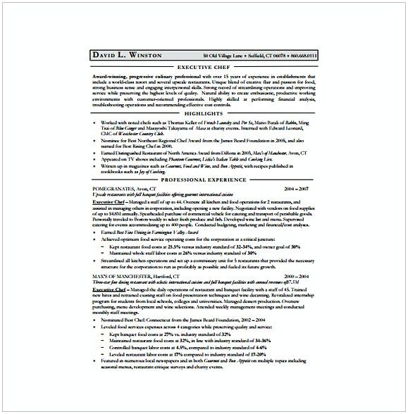 Executive Chef Resumetemplate Downlaod Hotel And Restaurant Management Being In A Hospitality Both Challenging Restaurant Management Management Restaurant
