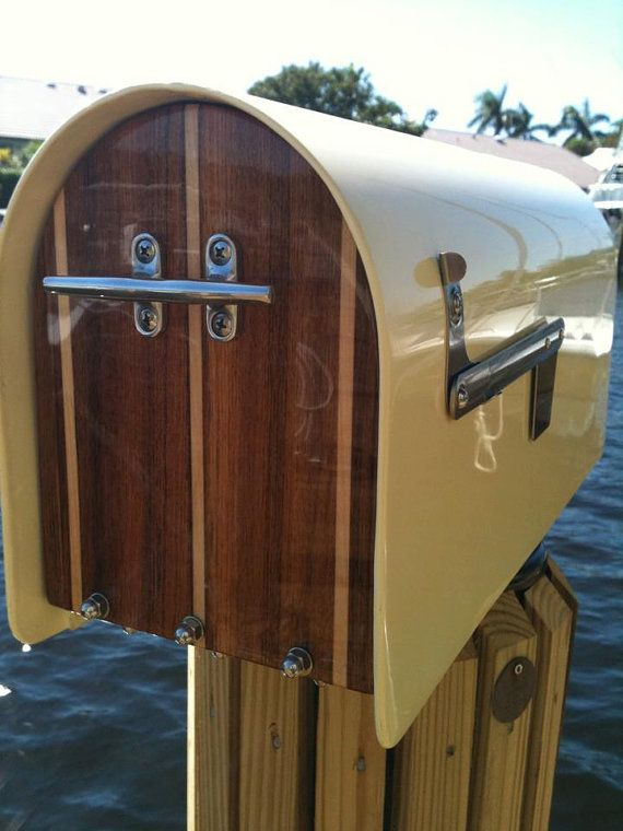 Nautical Handmade Solid Fiberglass Mailbox By