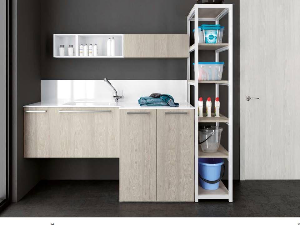 Armadi per inserire lavatrice e asciugatrice nel 2019 for Armadi per il bagno