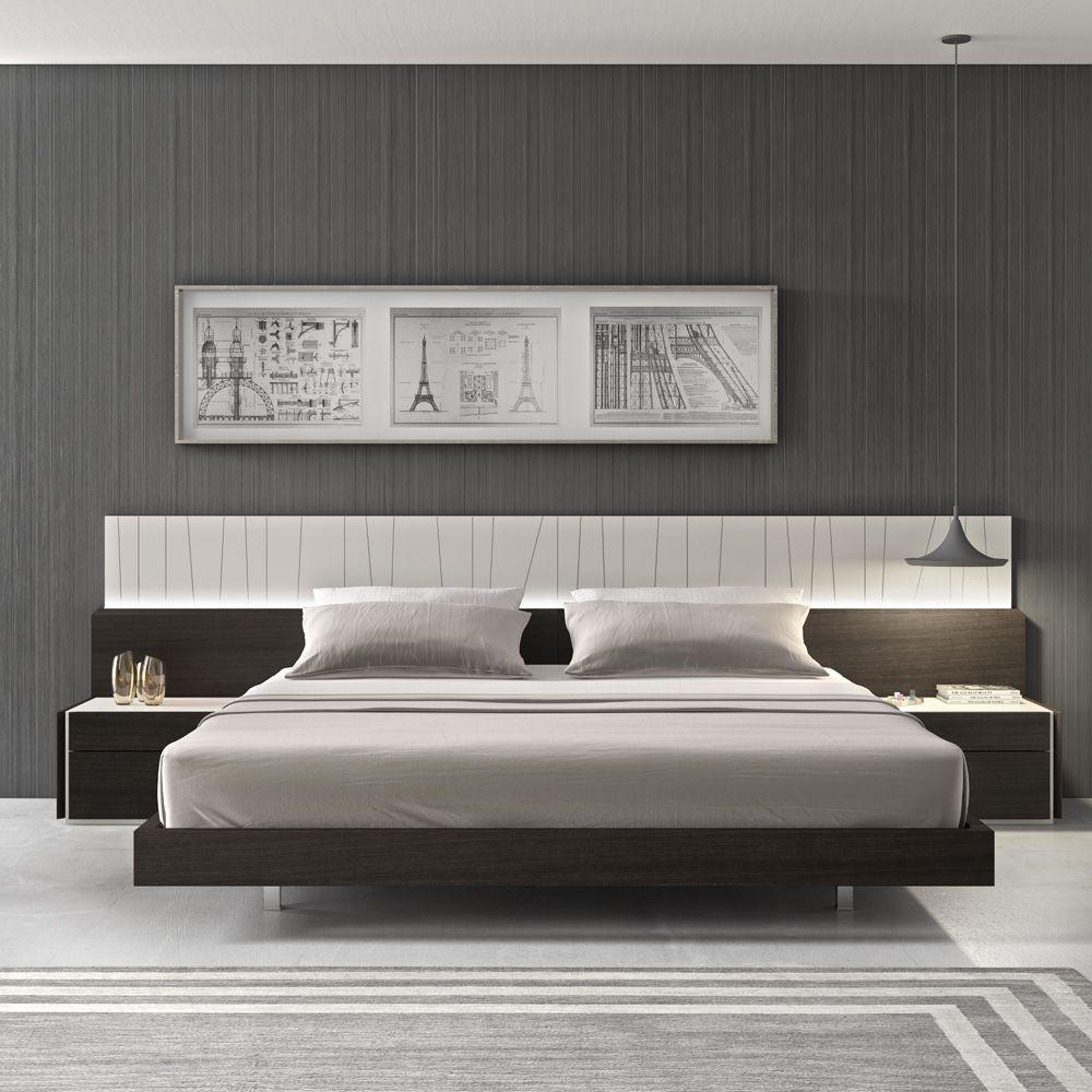 . Porto Premium Bedroom Set in Wenge with Light Grey   Master BR