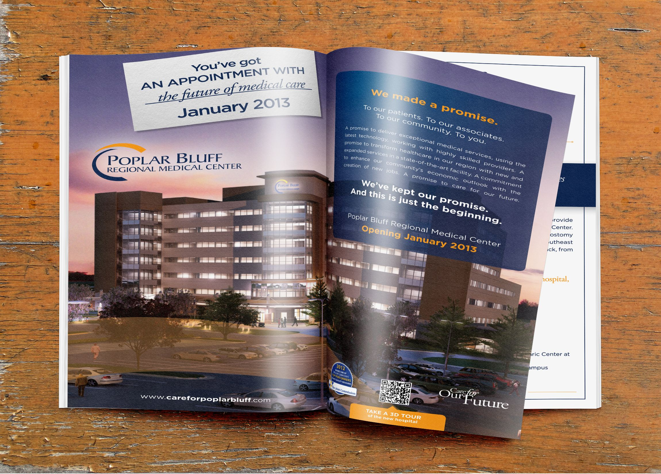 Hospital opening print ad, designed by BOLD Marketing. www
