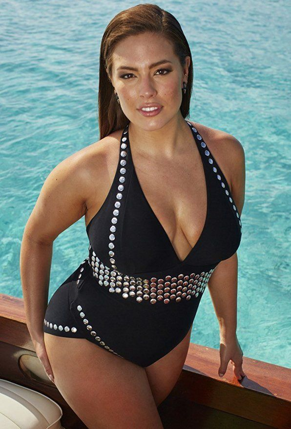 5a81bcca3b17e Ashley Graham x swimsuitsforall Women s Heist Swimsuit at Amazon Women s  Clothing store