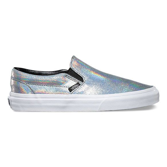 a48bcf184b96ff The Matte Iridescent Classic Slip-On features a low profile iridescent slip- on upper