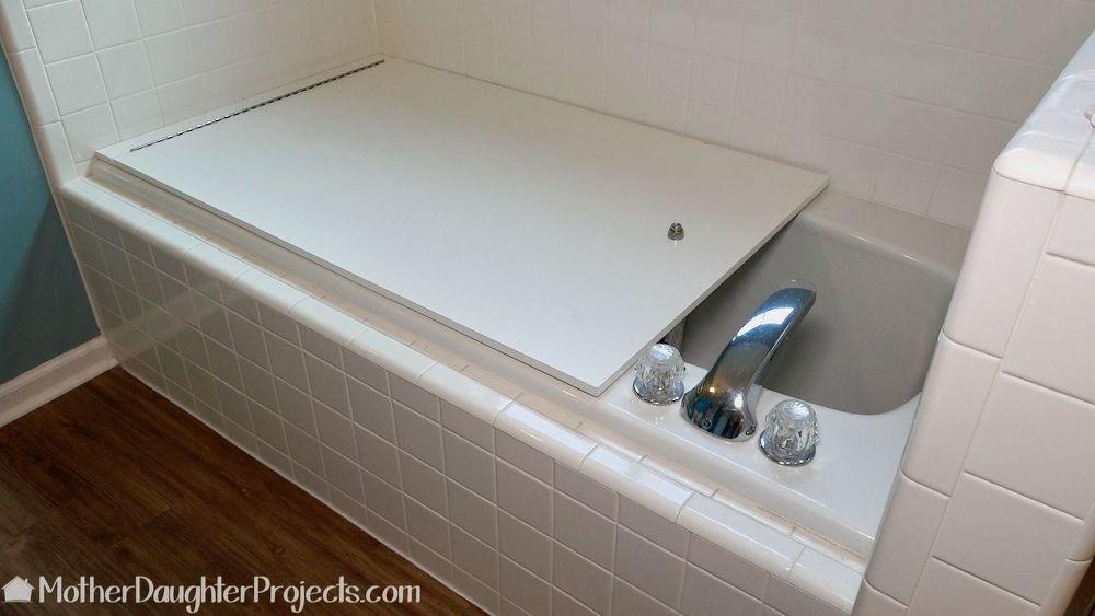 Quick Cover For An Unused Bathtub Bathtub Cover Diy Bathtub