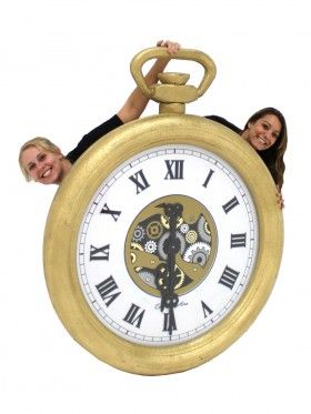 Event Prop Hire: Giant 3D Pocket Watch (Gold)