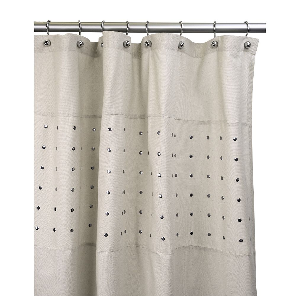 Contempo Fabric Shower Curtain Shower Curtain Grey Fabric