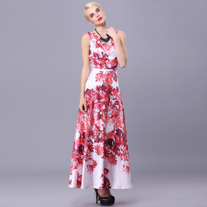 Find More Information about 2015 Summer V neck Sleeveless Slim Full Long Dress Floral Print Chinese Style Flower Vintage Dresses Vestido De Festa Longo,High Quality vintage barbie doll accessories,China vintage dresses plus Suppliers, Cheap vintage dresses cheap from June Day on Aliexpress.com