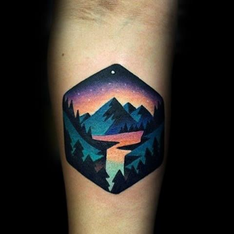 Top 101 Forest Tattoo Ideas 2020 Inspiration Guide Tattoos For Guys Tattoos Geometric Tattoo Nature