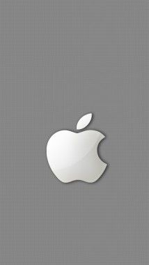 Silver Apple Iphone Wallpaper Apple Wallpaper Iphone Iphone