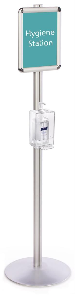 Hand Sanitizer Dispenser With 8 5 X 11 Sign Frame Floor