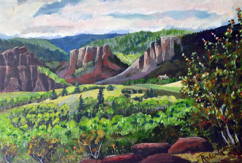 Colorado Landscape Art Original Fine Art Mountain Painting White River National Forest Lan Landscape Paintings Acrylic Colorado Landscape Mountain Paintings