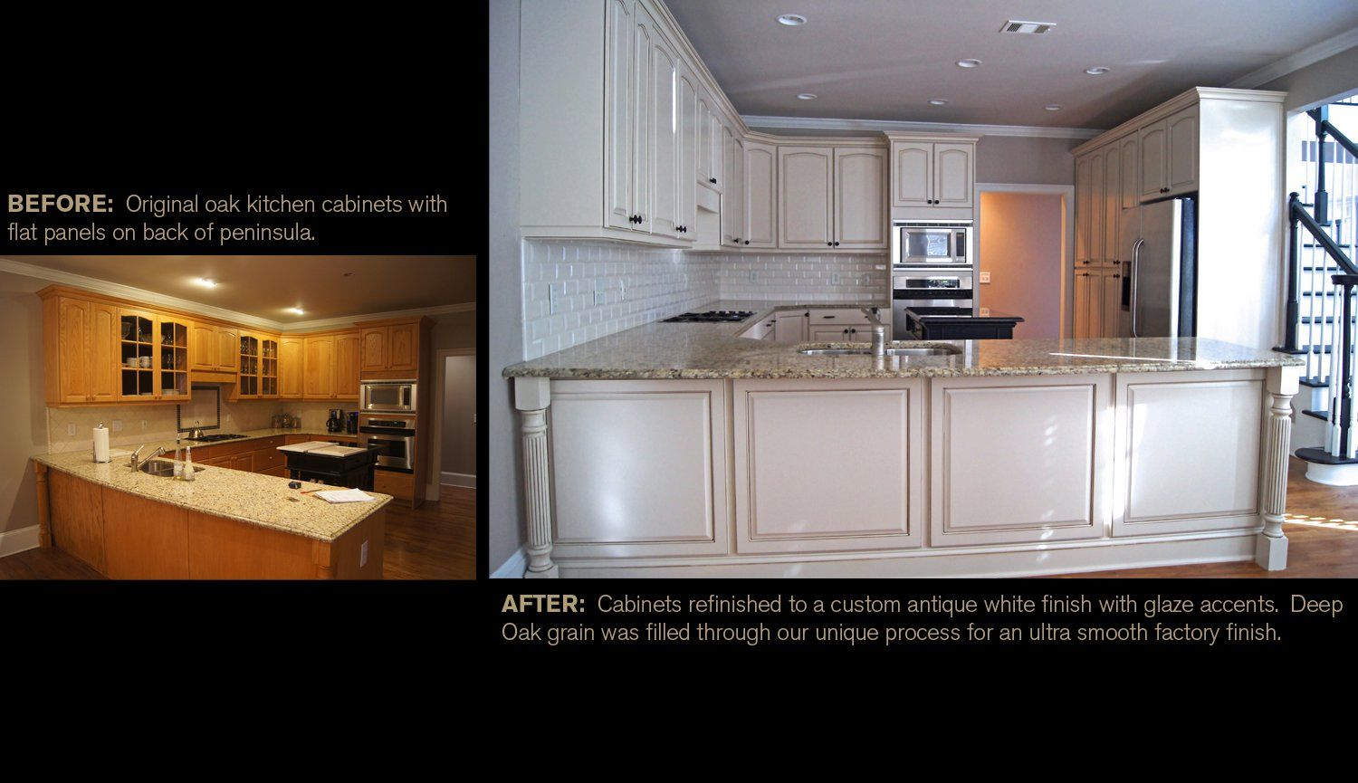 Creative Cabinets AndFaux Finishes, LLC (CCFF)   Before And After Faux  Refinishing Picture