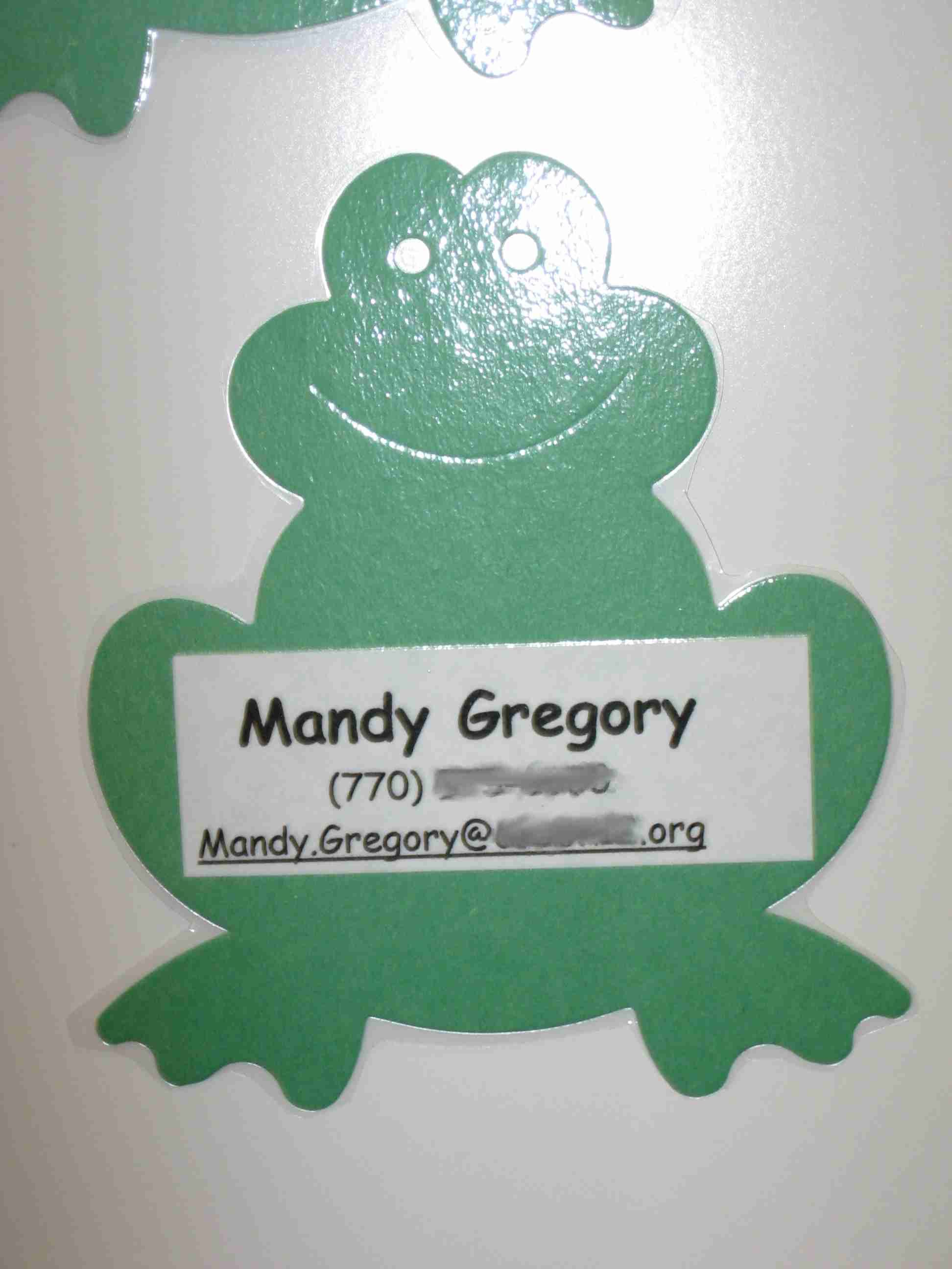 Teacher business cards Use any cut shape add a label with